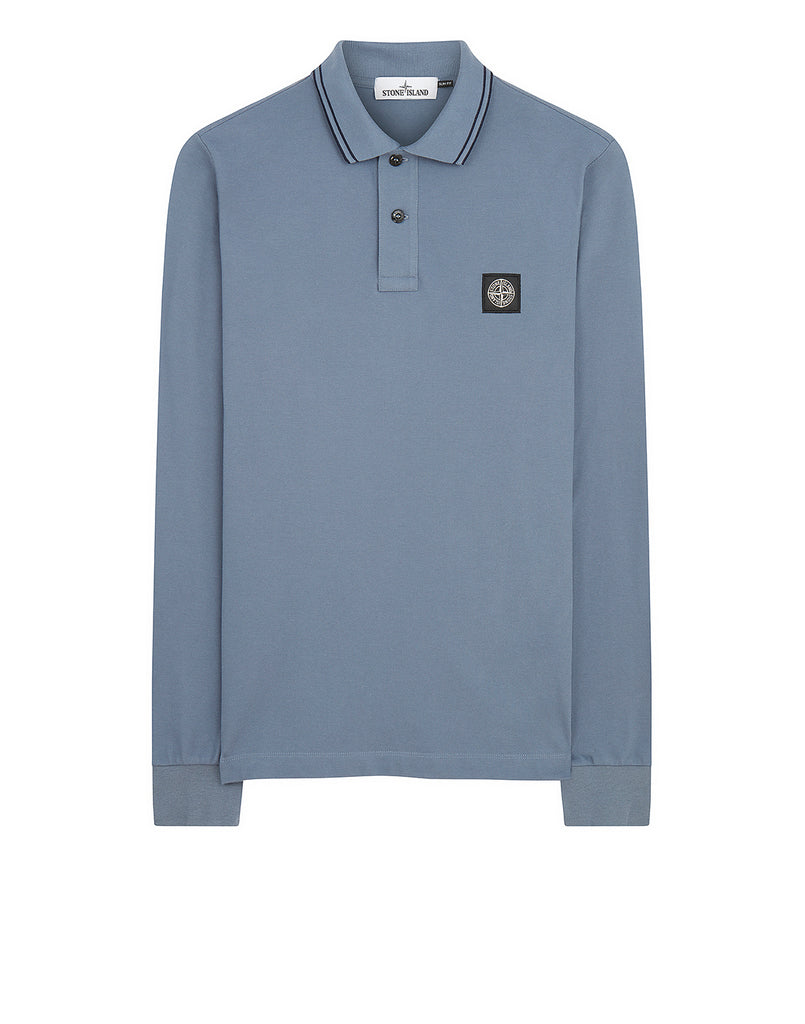2SS18 Long Sleeve Polo Shirt in Dark Blue