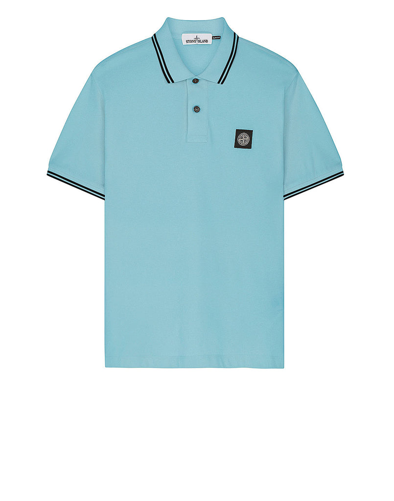 22S18 Short Sleeve Polo Shirt in Aqua