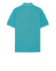 22S67 Pigment Dye Short Sleeve Polo Shirt in Aqua
