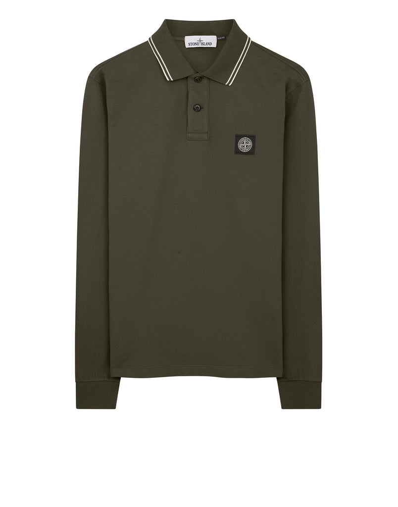 2Ss18 Long Sleeve Polo Shirt in Dark Forest