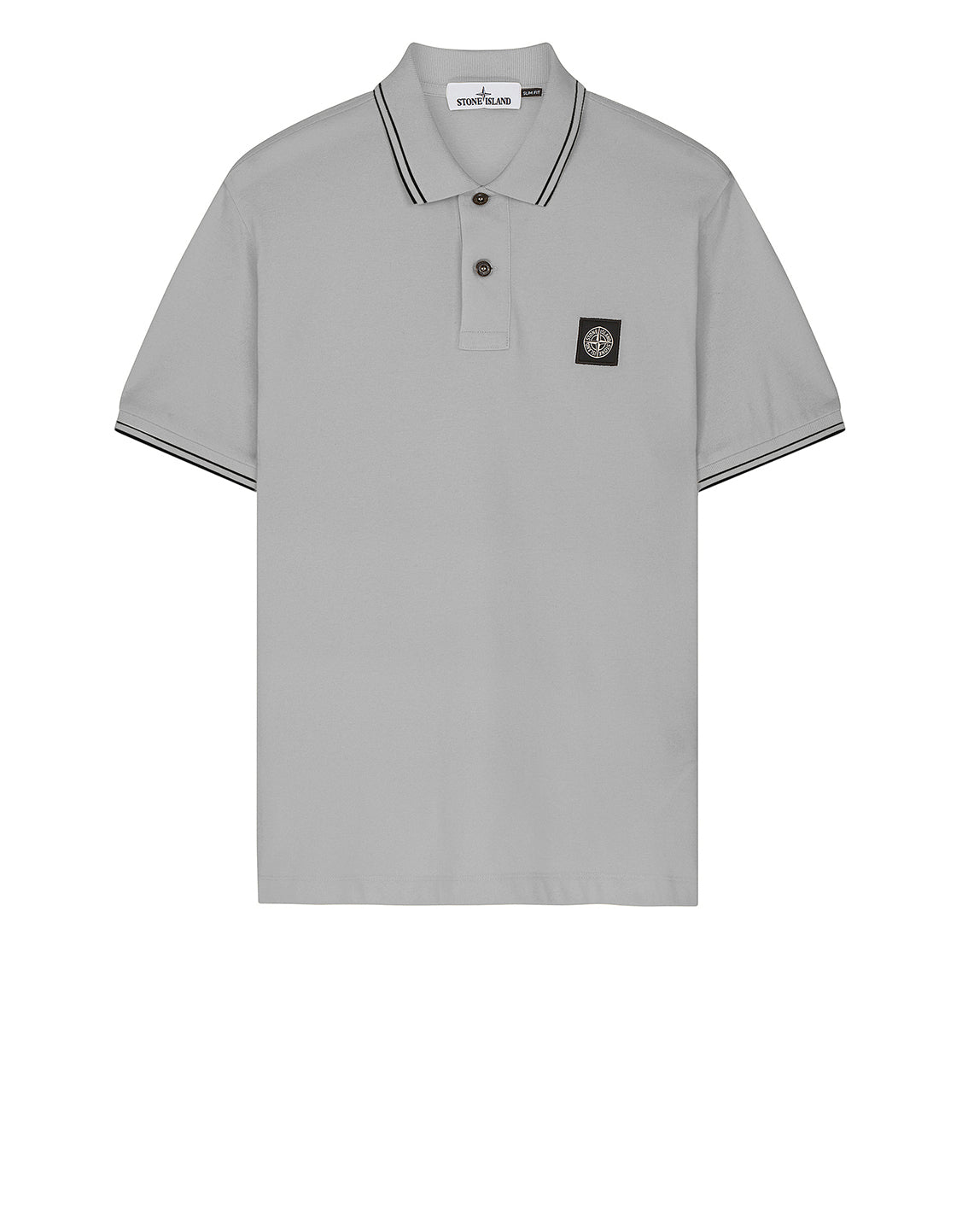 22S18 Short Sleeve Polo Shirt in Pearl Grey