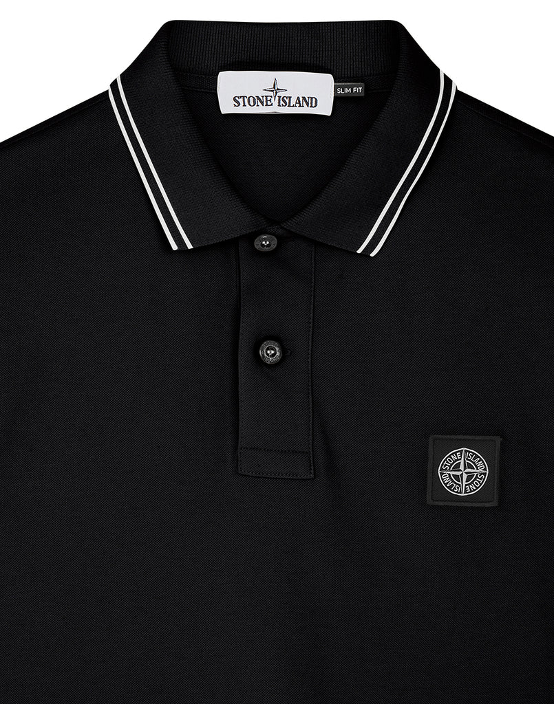 22S18 Short Sleeve Polo Shirt in Black