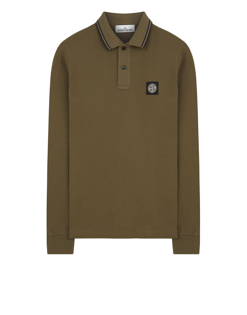 2SS18 Long Sleeve Polo Shirt in Olive