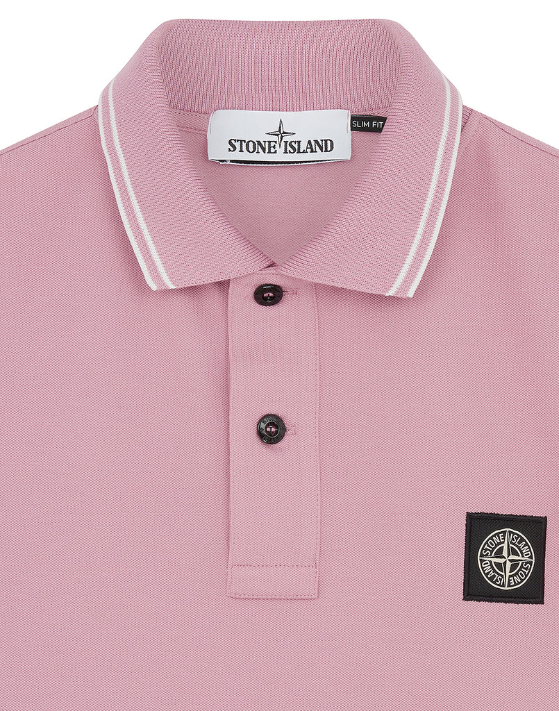 22S18 Polo Shirt in Rose Quartz