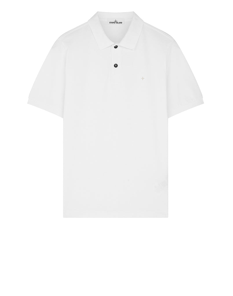 21718 Short-sleeve polo shirt in White