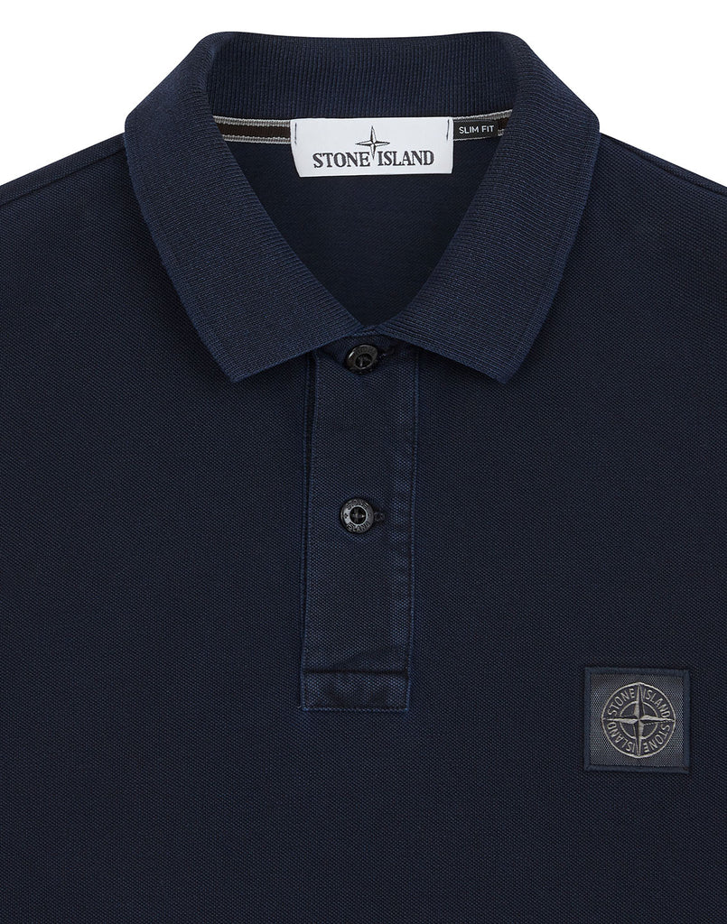 2SS67 Pigment Dye Treatment Polo Shirt in Navy Blue