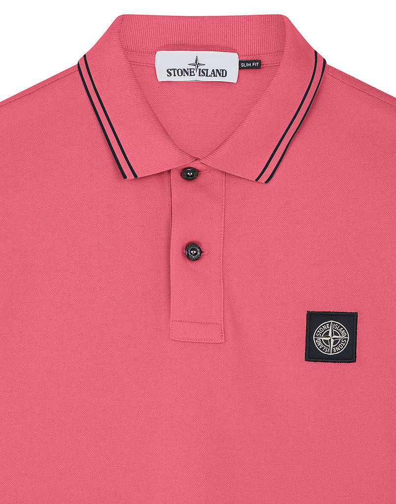 22S18 Short Sleeve Polo Shirt in Fuchsia