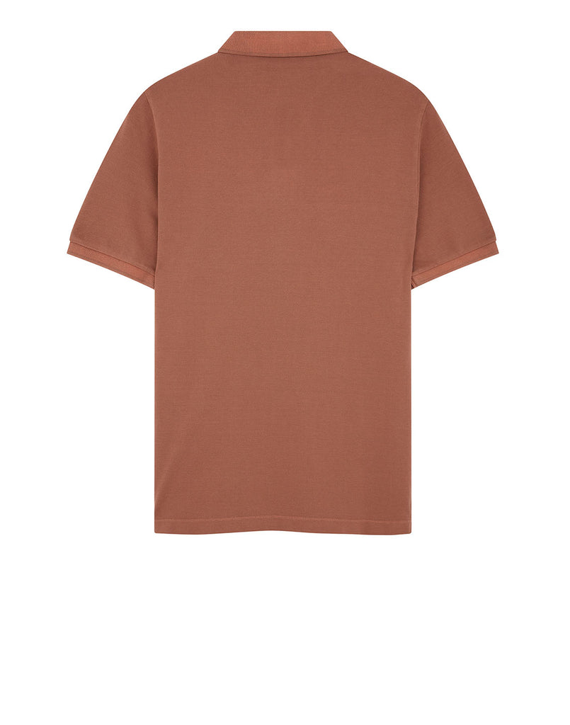 22S67 Polo Shirt in Rust