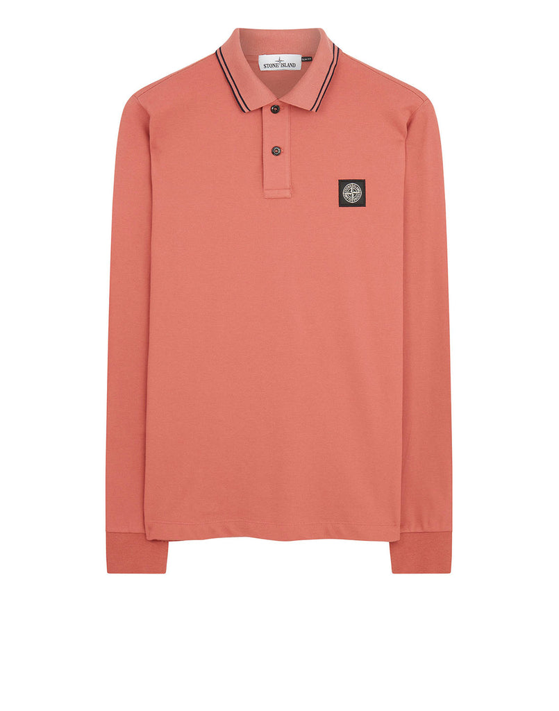 2SS18 Long Sleeve Polo Shirt in Rust