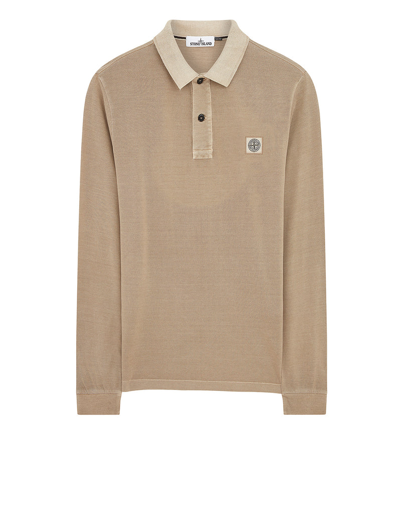2SS67 Pigment Dye Treatment Polo Shirt in Sand