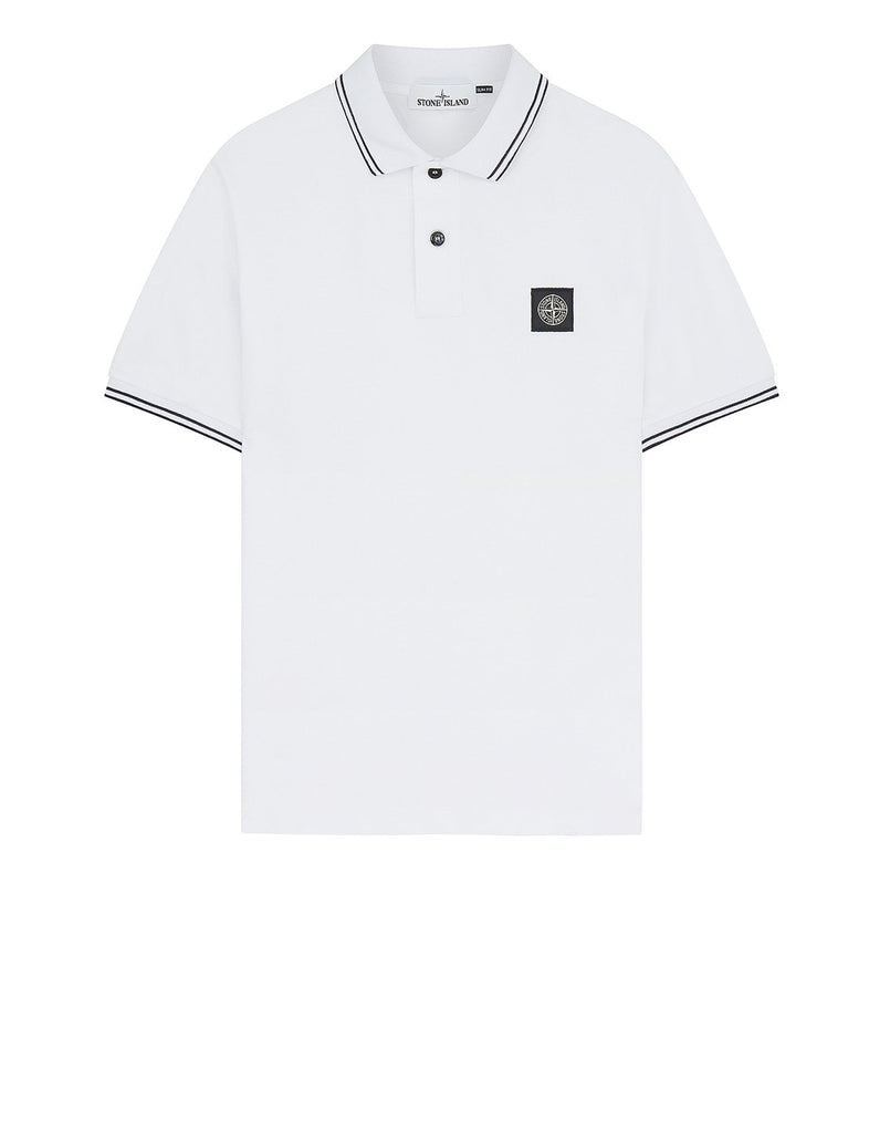 22S18 Short Sleeve Polo Shirt in White