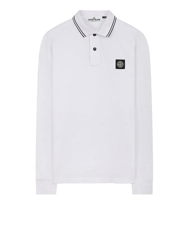 2SS18 Long Sleeve Polo Shirt in White