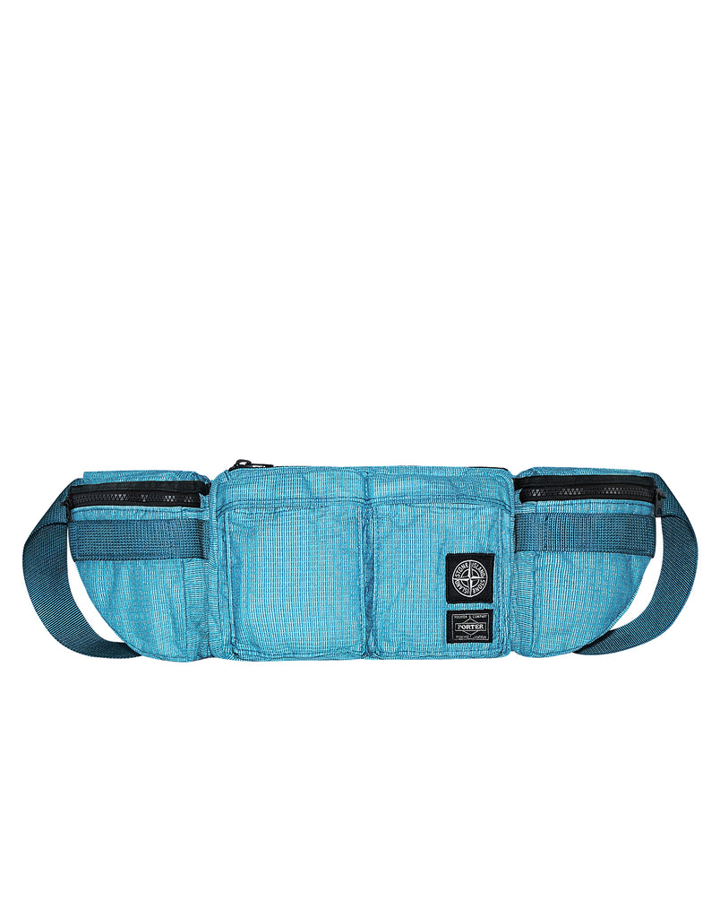 916P1 STONE ISLAND/PORTER®REFLECTIVE WEAVE RIPSTOP-TC in Turquoise