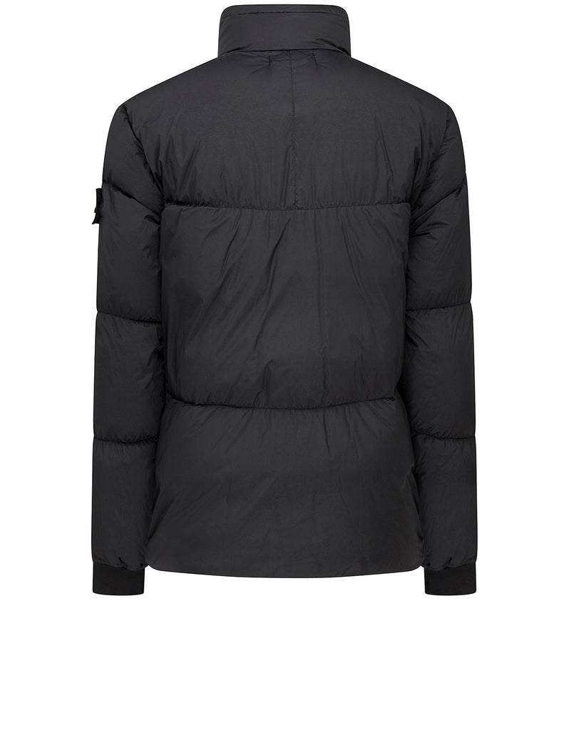 40123 GARMENT DYED CRINKLE REPS NY DOWN: Jacket in Black