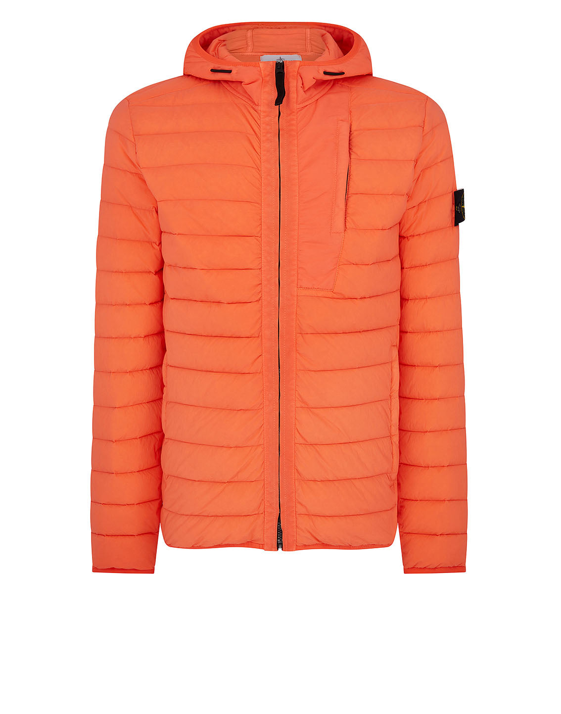 41225 LOOM WOVEN DOWN CHAMBERS STRETCH NYLON-TC Jacket in Orange Red