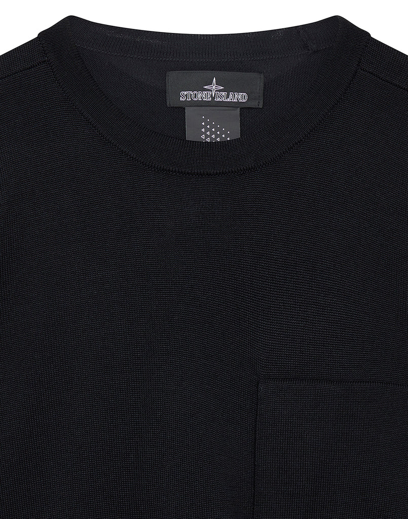 505A4 CATCH POCKET CREWNECK in Black