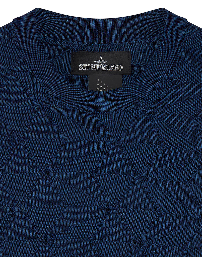 502I5 GRAPHIC KNIT in Blue Stone Wash
