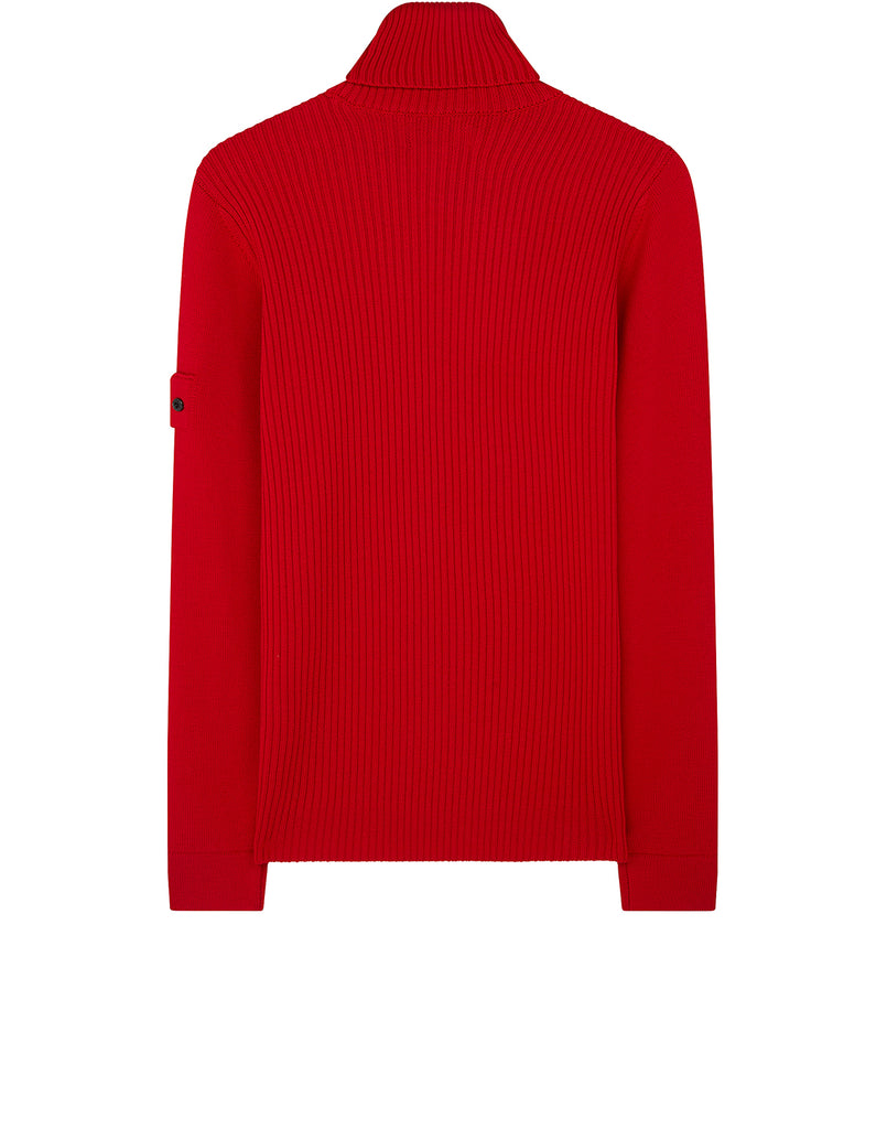 510A5 RIBBED TURTLE NECK in Red