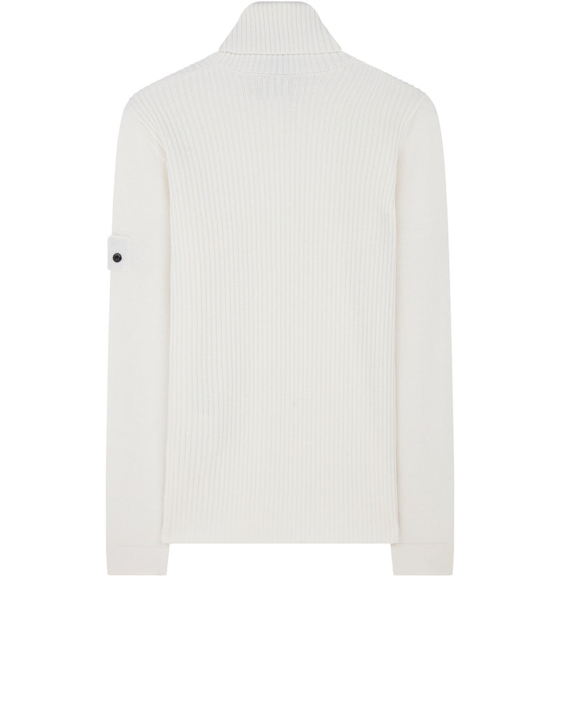 510A5 RIBBED TURTLE NECK in White