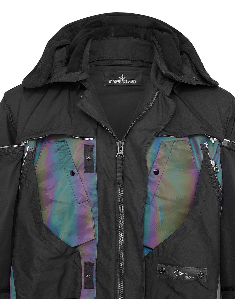 70406 STEALTH PARKA (DIAGONAL POLYESTER+SCARABEO) Jacket in Musk
