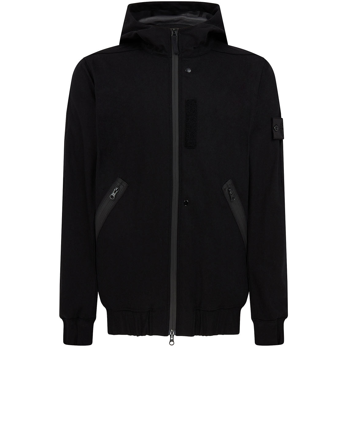 Q0201 HOODED JACKET in Black