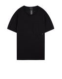 20110 PRINTED SS CATCH POCKET T-Shirt in Black