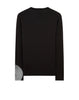 20210 PRINTED LS CATCH POCKET T-Shirt in Black