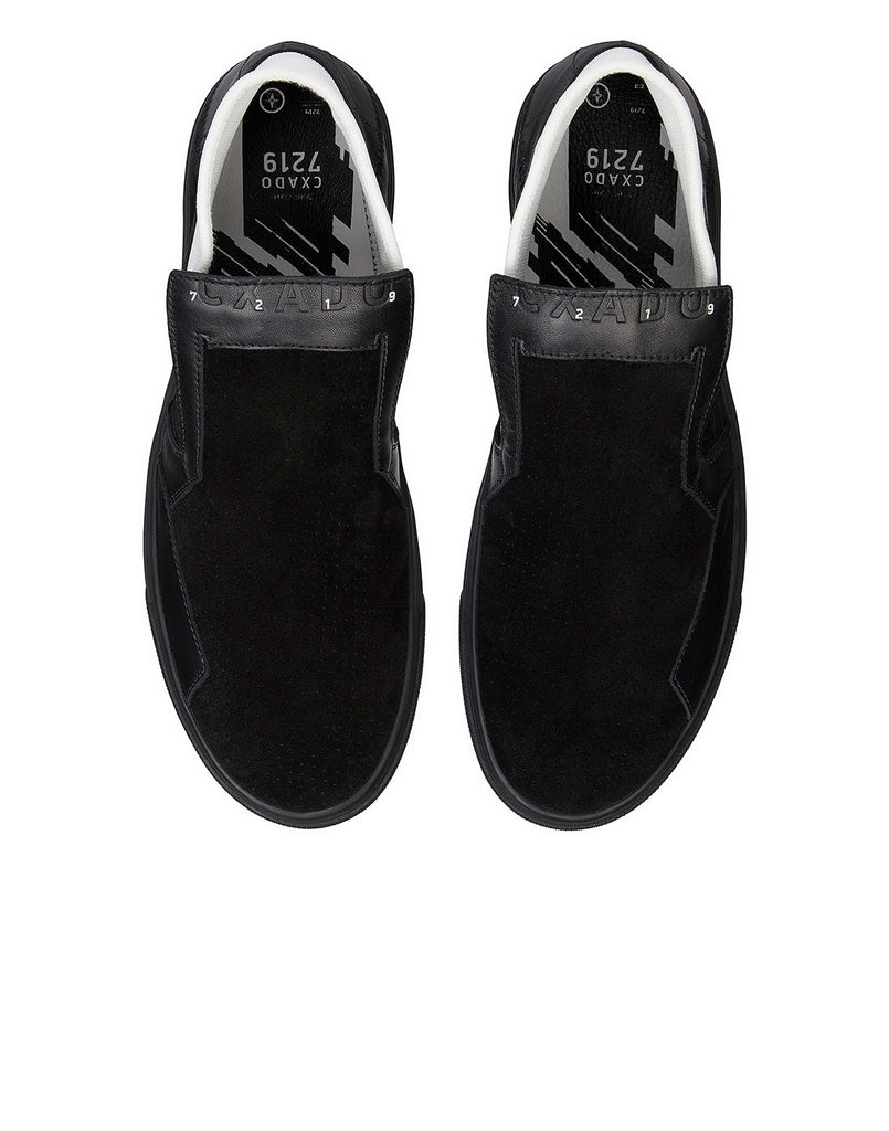 S0123 SLIP-ON MID_SUEDE Shoes in Black
