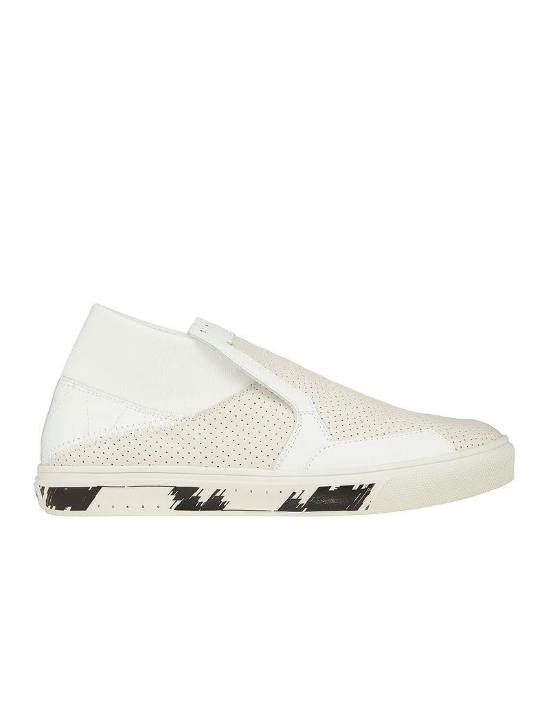 S0122 SLIP-ON MID_LEATHER Shoes in Plaster