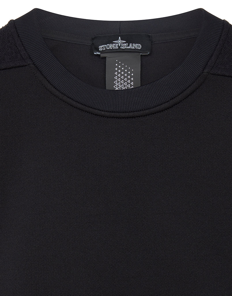 60207 ENGINEERED PILL CREWNECK in Black