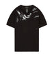 20610 PRINTED SS CATCH POCKET T-Shirt in Black