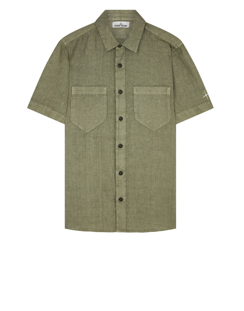12601 'FISSATO' DYE TREATMENT Shirt in Olive