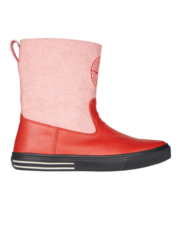S0394 CANVAS PLACCATO Boots in Brick Red