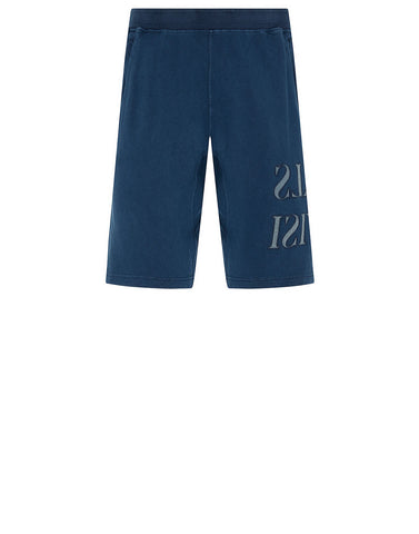 62661 'OLD' DYE TREATMENT Shorts in Blue