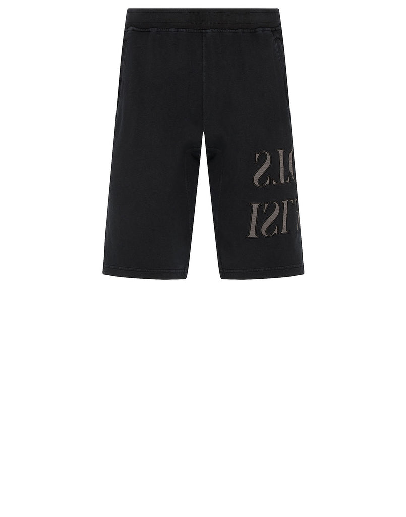 62661 'OLD' DYE TREATMENT Shorts in Black