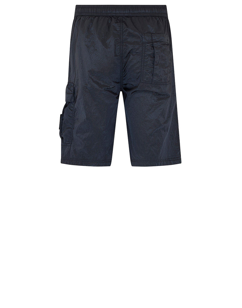 L1017 NYLON METAL RIPSTOP Shorts in Navy Blue