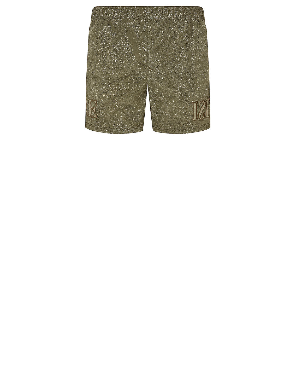 B0444 NYLON METAL-FLECK TREATMENT Shorts in Olive