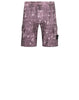 L01E2 Dust Colour With Ghillie Laser Camo Bermuda Shorts in Violet