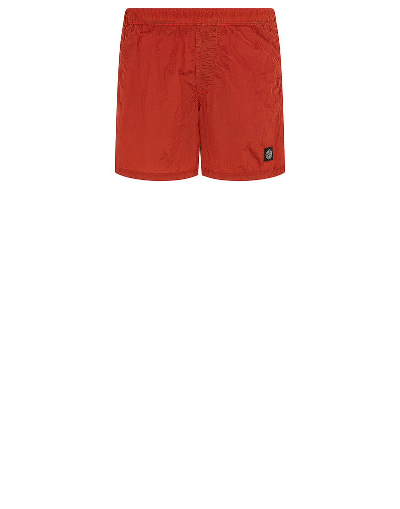 B0943 NYLON METAL Swim Shorts in Orange