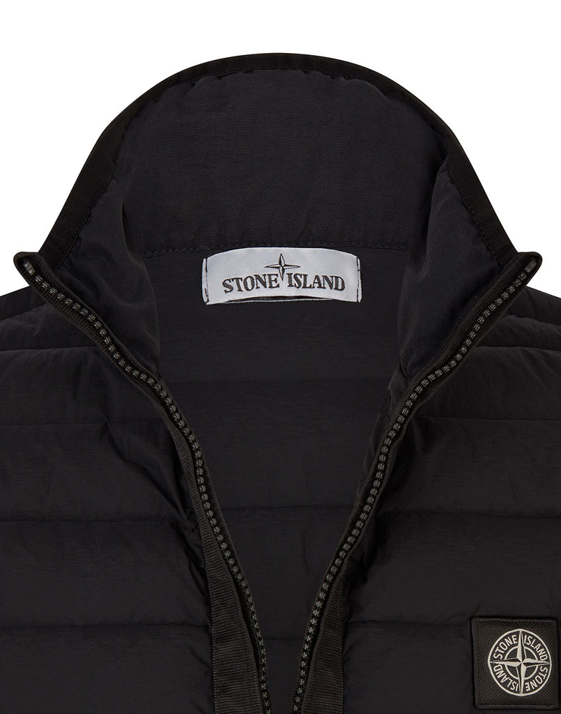 G0125 LOOM WOVEN DOWN CHAMBERS STRETCH NYLON-TC Jacket in Black