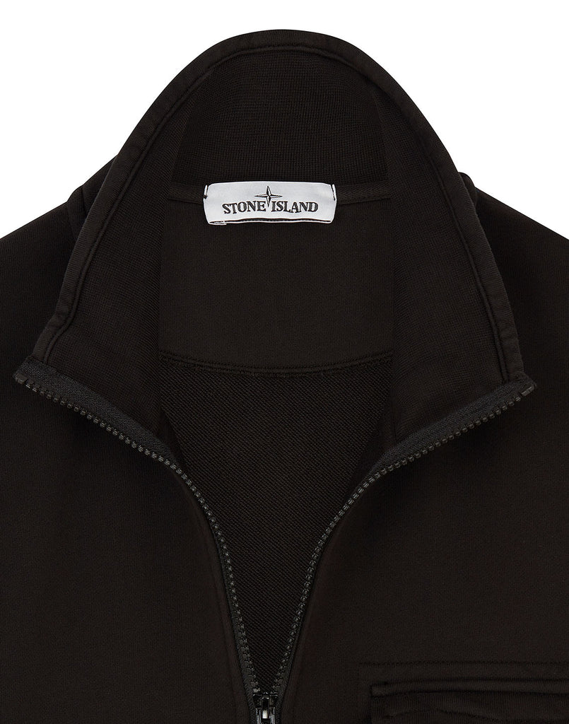 63351 Zip Sweatshirt in Black