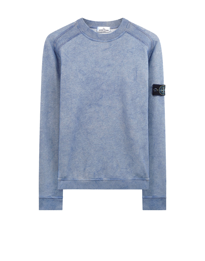 62290 DUST COLOUR TREATMENT Crewneck sweatshirt in Periwinkle