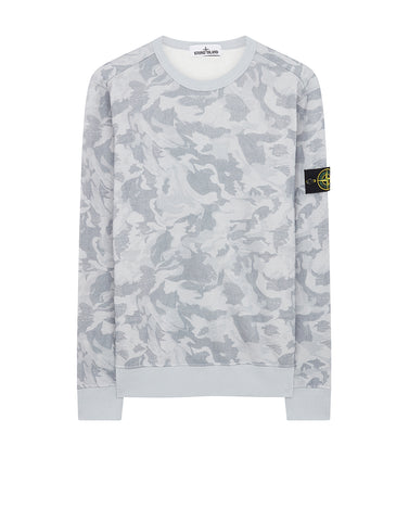 605E4 BIG LOOM CAMO Sweatshirt in Sky Blue