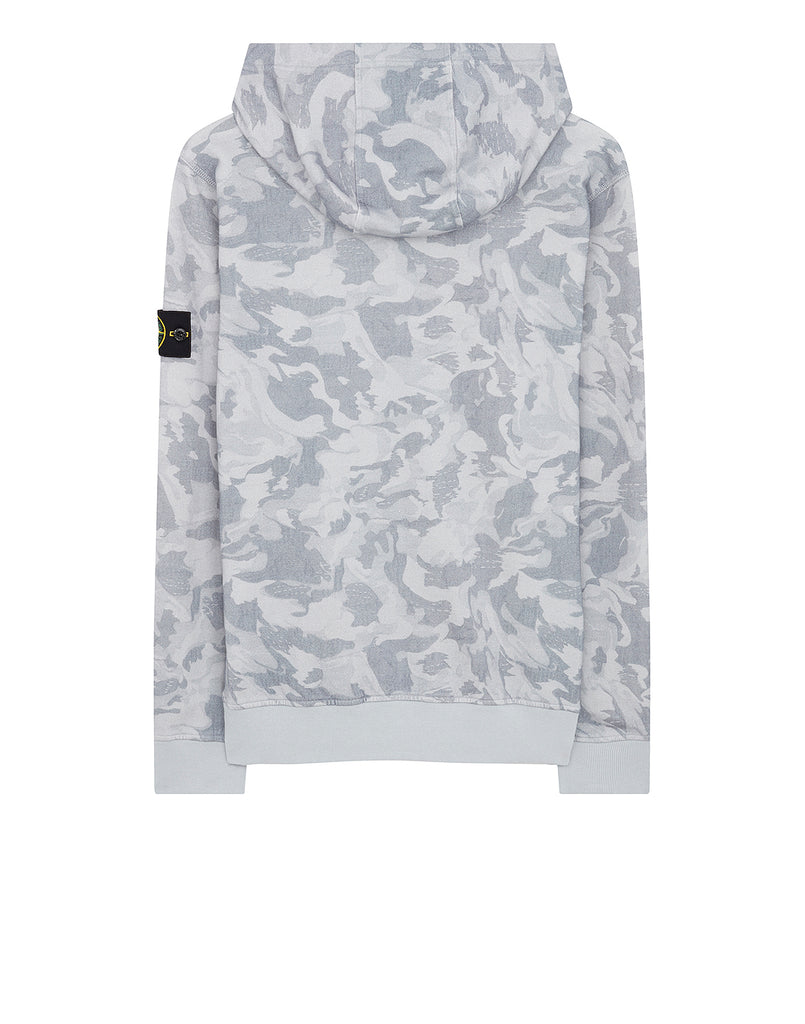 668E4 BIG LOOM CAMO Hooded Sweatshirt in Sky Blue
