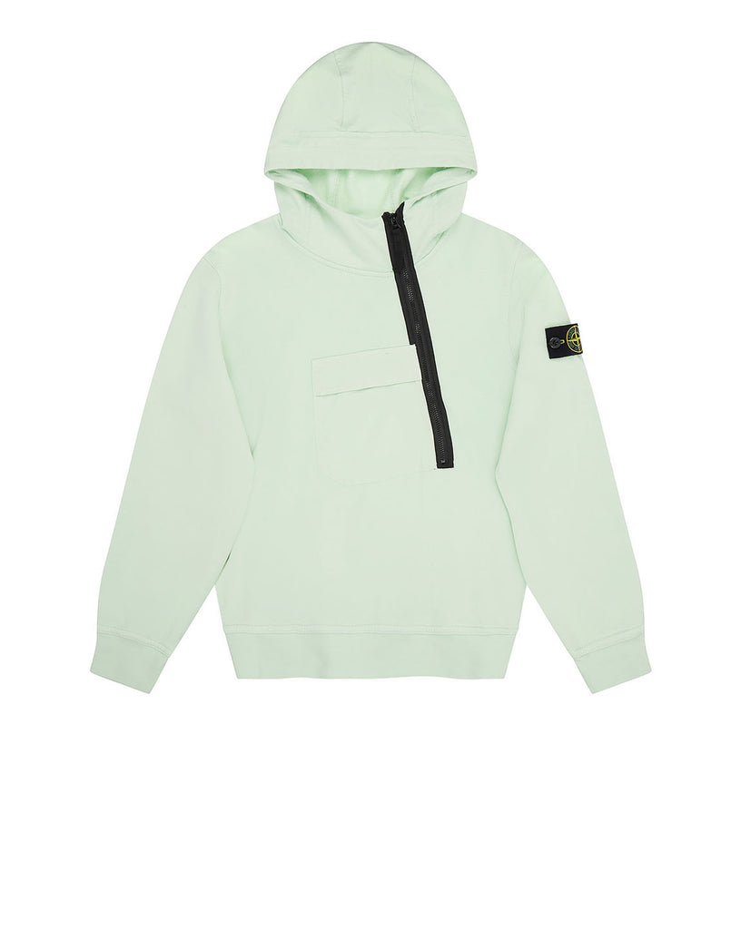 60140 Hooded Sweatshirt in Light Green