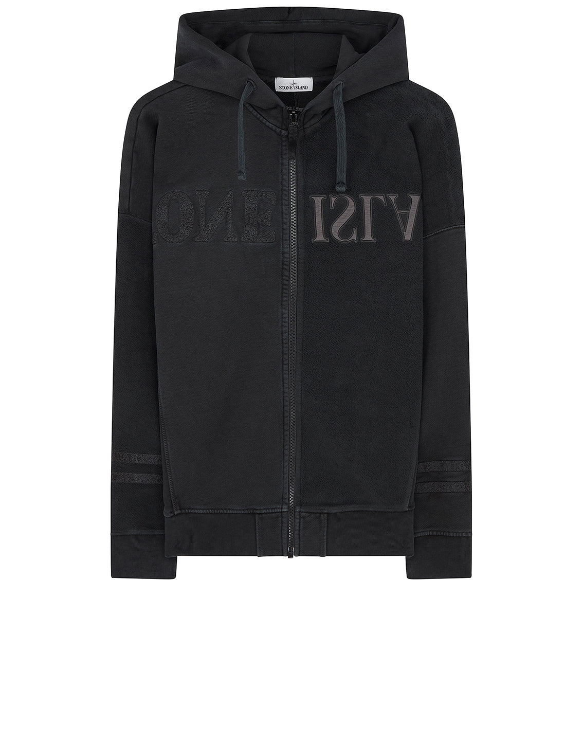63447 Mirrored Hooded Sweatshirt in Black