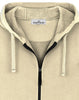 64220 Hooded full zip sweatshirt in Butter