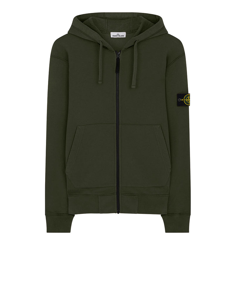 64220 Hooded full zip sweatshirt in Dark Forest