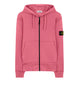 64220 Hooded full zip sweatshirt in Pink