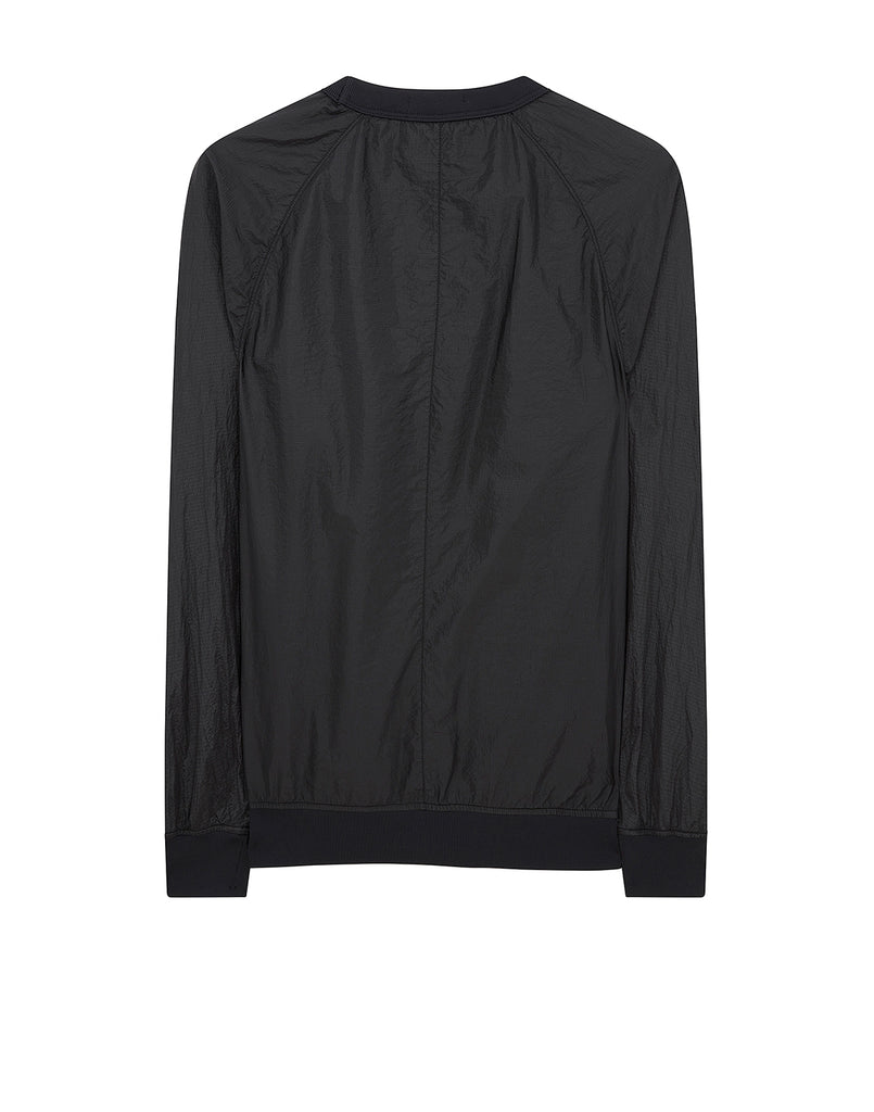 63036 Nylon Metal Smock in Black